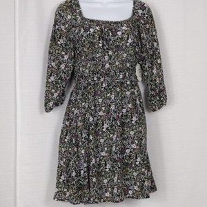 A.U.W. long sleeve fit & flare spring dress Size S